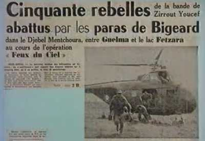 50 rebelles abattus par les Paras de Bigeard ...