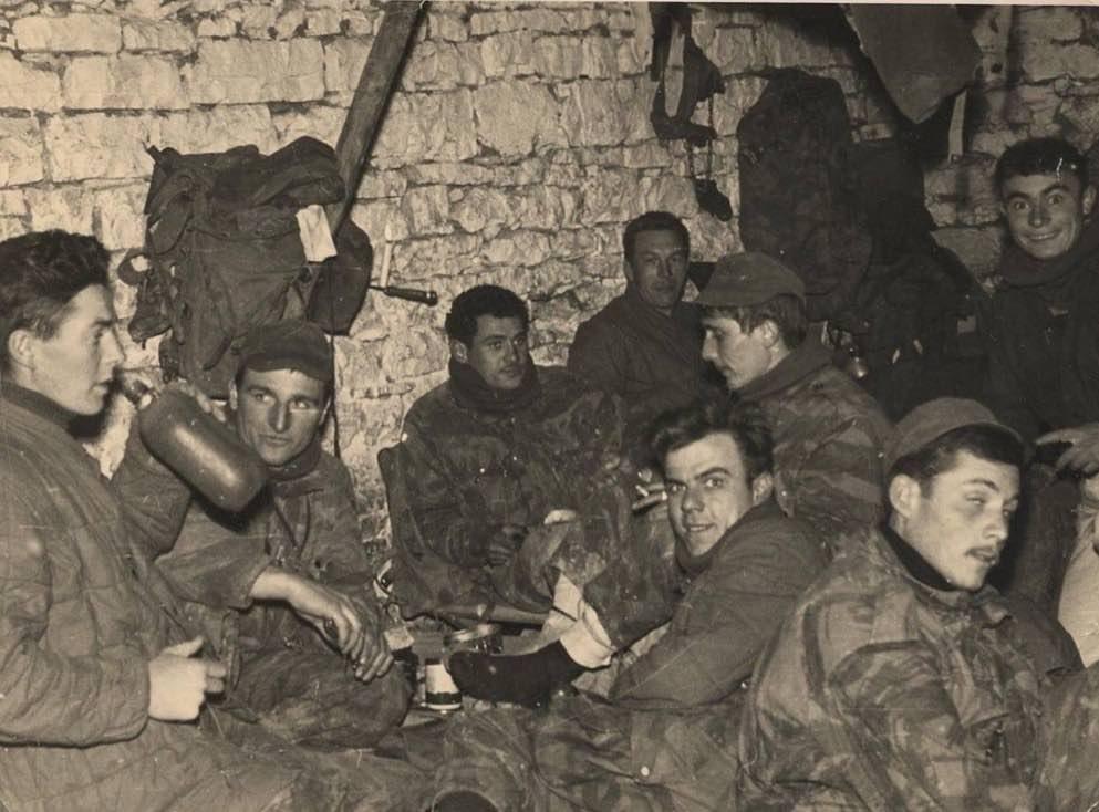 "Commandos de l'Air fin 1958 A gauche, sergent Eric LE GREVES, dit ""leli"""