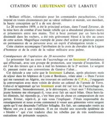 Lieutenant Guy LABATUT 20 Novembre 1959 In MEMORIAM