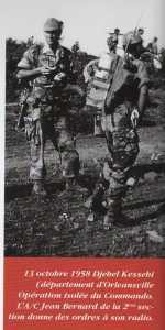13 Octobre 1958 Djebel KESSEBI (ORLEANSVILLE) Adjudant Jean BERNARD