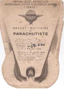 Brevet de parachutiste de I TOT NAI
