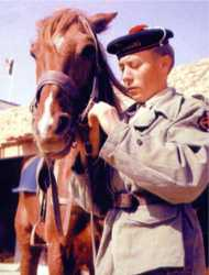 Fusilier et son cheval.