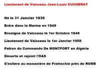 Biographie du Lieutenant de Vaisseau CUCHERAT