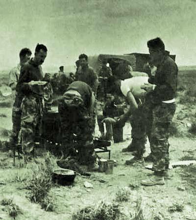 Bivouac au Sahara en 1962.