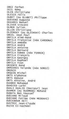 Liste des Disparus ---- O