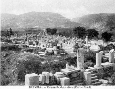 DJEMILA - Ruines de la partie Nord