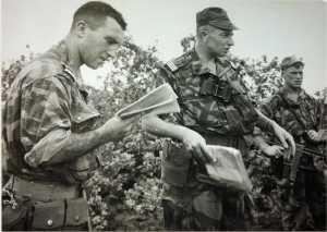Adjudant Marcel ANTONINI et le Capitaine Le BOUDEC