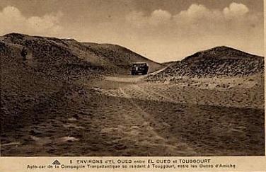 EL OUED - La route de TOUGGOURT