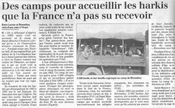 L'Exode ---- Des camps pour accueillir les harkis  que la France n'a pas su recevoir