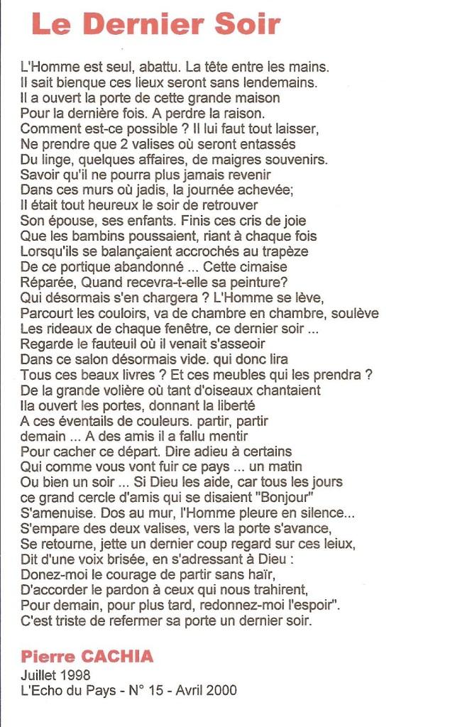 Le Dernier Soir ----    L'Abandon de l'ALGERIE