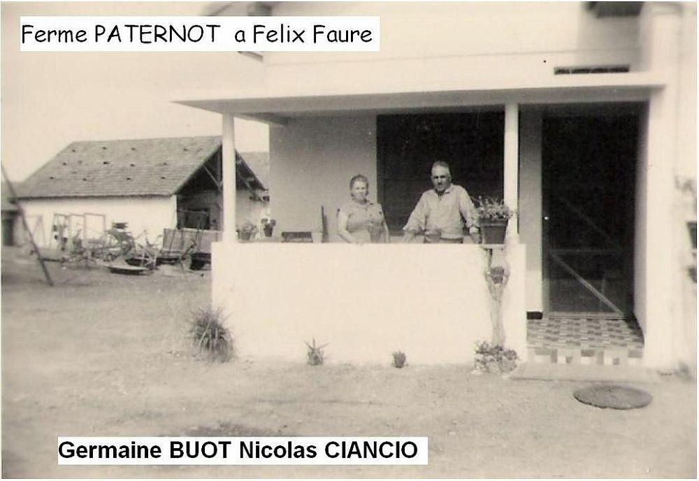 FELIX-FAURE - La Ferme PATERNOT Germaine BUOT et Nicolas PATERNOT