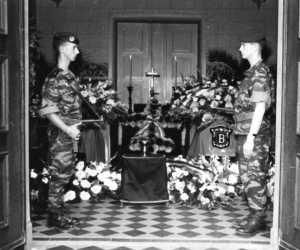 Les cercueils de Francis SORO  et Henri BERNAZ