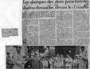 NANCY - Juin 1962 L'enterrement de Francis SORO  et Henri BERNAZ