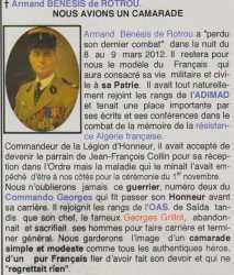 Armand BENESSIS de ROTROU Commando GEORGES