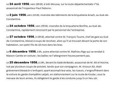 GUE DE CONSTANTIINE  Attentats en 1956