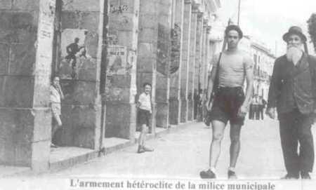 GUELMA - La Milice Municipale en 1945