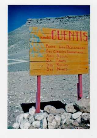 GUENTIS - Pancarte de bienvenue