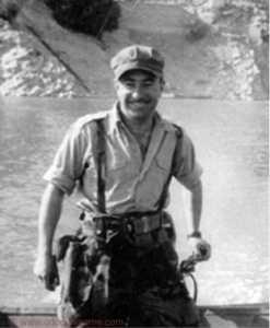 Adjudant BIZET sur le barrage d'Oued-Fodda Mort au combat le 30 Avril 2008