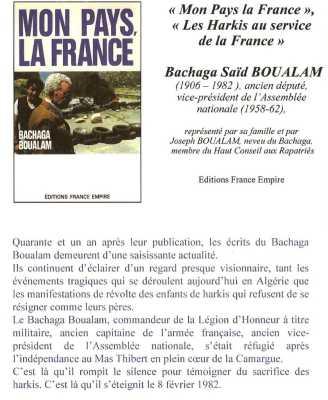 Mon Pays La FRANCE  Bachaga BOUALEM