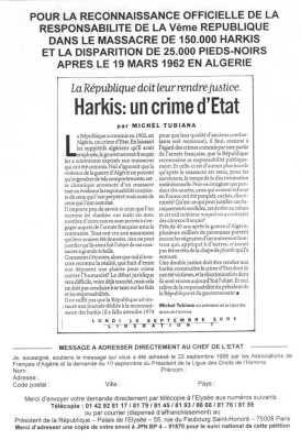 HARKIS Un Crime d'Etat  Michel TUBIANA