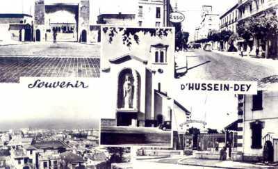 Carte postale d'HUSSEIN-DEY