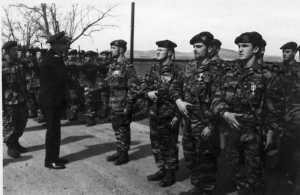 Commando JAUBERT Revue par l'Amiral AUBOYNEAU