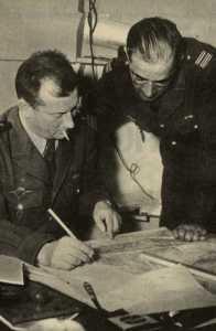 Commandant JEANPIERRE et Lieutenant Colonel BROTHIER Jeanpierre est l' adjoint de BROTHIER Chef de Corps du 1er REP  lors de la prise de la photo