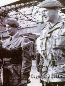 Le lieutenant-colonel JEANPIERRE et Lieutenant MORIN