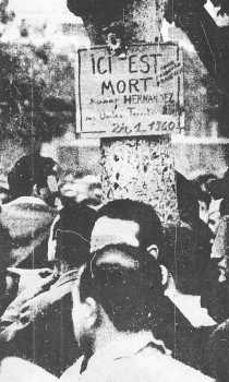 25 Janvier 1960 ICI EST MORT GUY HERNANDEZ
