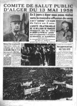 Le COMITE de SALUT PUBLIC du 13 mai 1958