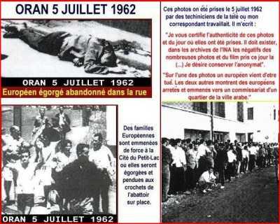 ORAN - 5 juillet 1962 ----   Autres photos du massacre d'ORAN cliquez ici