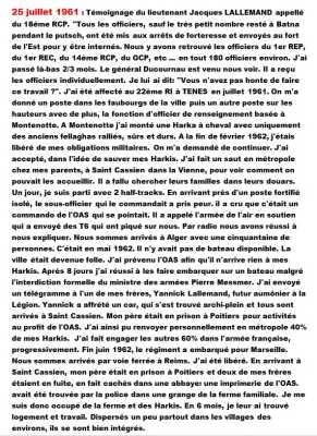 25 Juillet 1961 - Jacques LALLEMAND