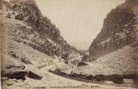 EL KANTARA - Les Gorges en 1885