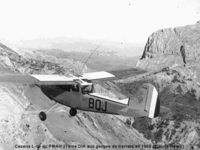 CESSNA L-19 dans les gorges de KERRATA en 1959