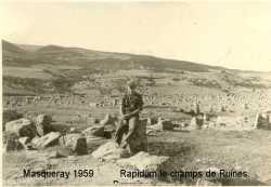 MASQUERAY 1959 le champs de Ruines de RAPIDUM