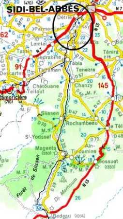 LAMORICIERE   ROCHAMBEAU - PALISSY - SIDI-BEL-ABBES - BEDEAU