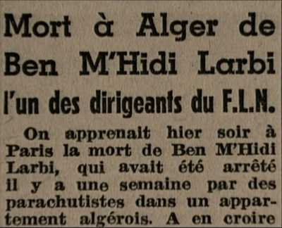 Mort de BEN M'HIDI
