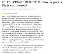 LEGIONNAIRE DESERTEUR