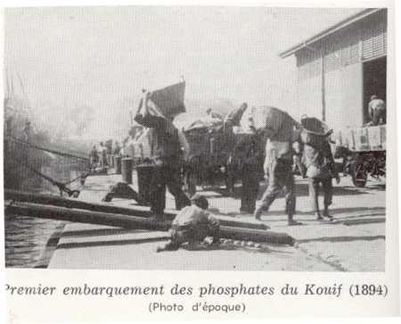 LE KOUIF - 1894 1er embarquement des phosphates