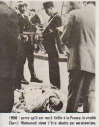 1956 - Assassinat  du Cheik ZHANIR Mohamed