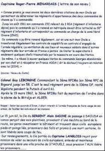 Sergent Alain SAICHE  DAOUDA  Capitaine LANGLOIS  STAOUELI