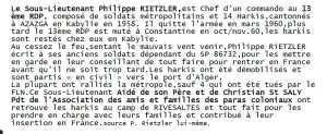 Sous Lieutenant Philippe RIETZLER