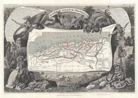 LES QUATRE CHEMINS Cartographie de 1852 (Levasseur)
