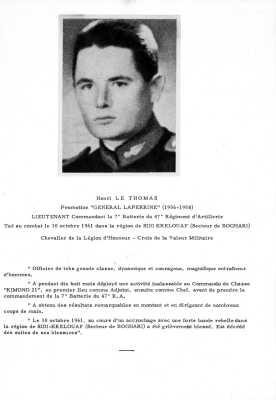 Lieutenant Henri Le THOMAS