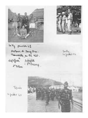 L'Indochine : Le MY en janvier 1948 SONTAY le 14 juillet 1959 L'ALGERIE / TENES