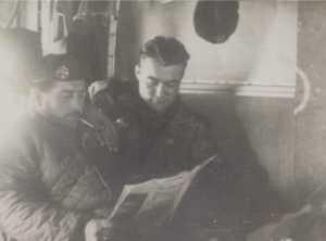 Moment de lecture pour le sergent Louis TOIGO