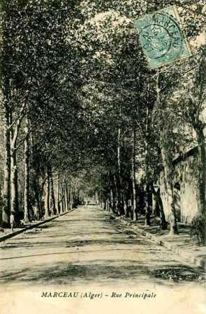 MARCEAU - La Rue Principale en 1900