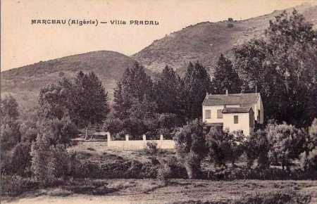 MARCEAU - La Villa  Pradal en 1900