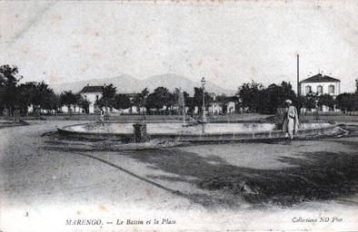 MARENGO Le Bassin et la Place du Jet d'eau