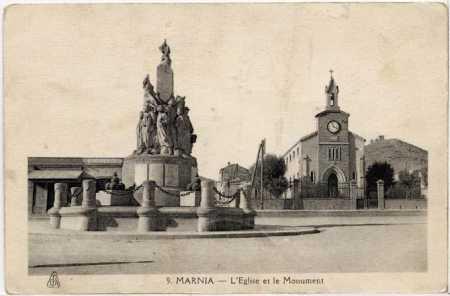 MARNIA L'Eglise et le Monument aux Morts